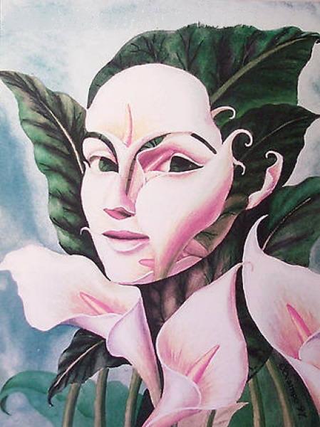 Абстрактные портреты - мексиканский художник Octavio Ocampo