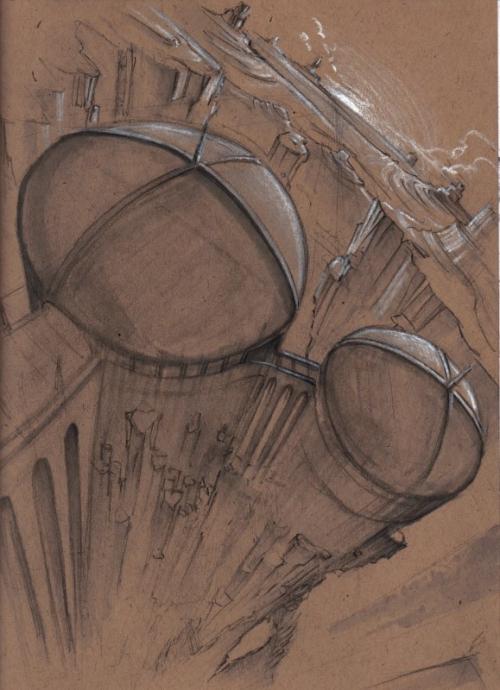 Архитектурные наброски (концепт - арт)