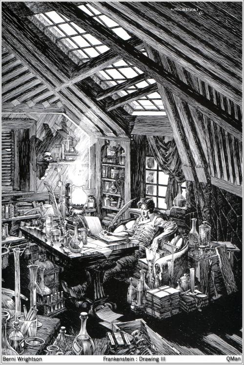 Иллюстрации к Франкенштейну (гравюры)