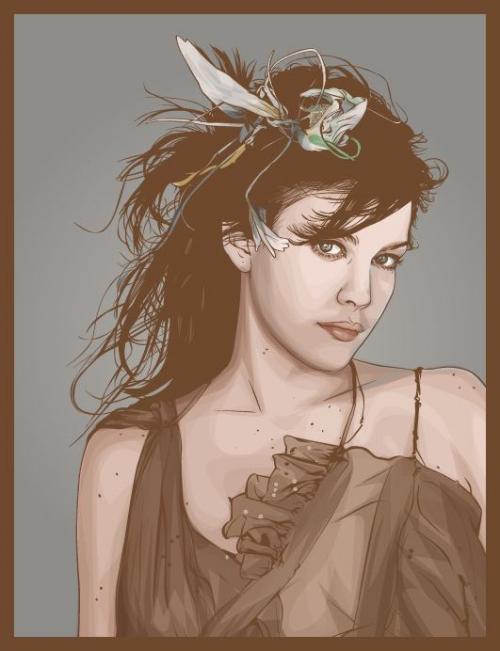 Красивые портреты в векторном стиле (часть 1)