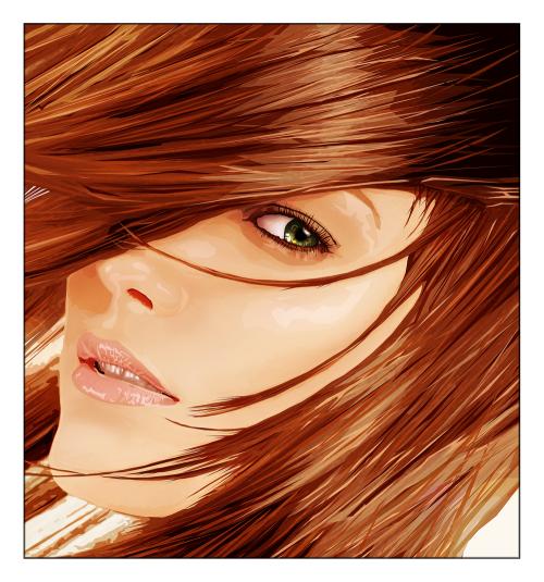 Красивые портреты в векторном стиле (часть 2)