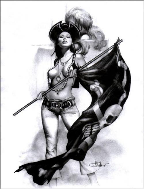 Рисованные пиратки