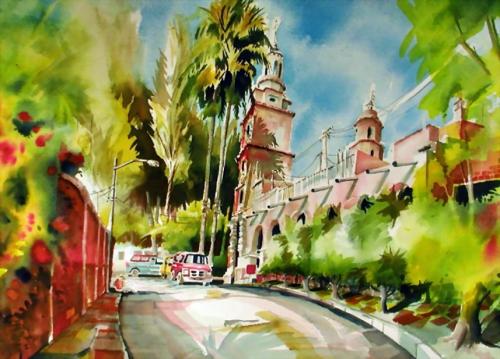 Мексиканские мотивы - акварели Mike Kleimo