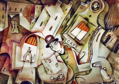 Грустные картинки Евгения Иванова