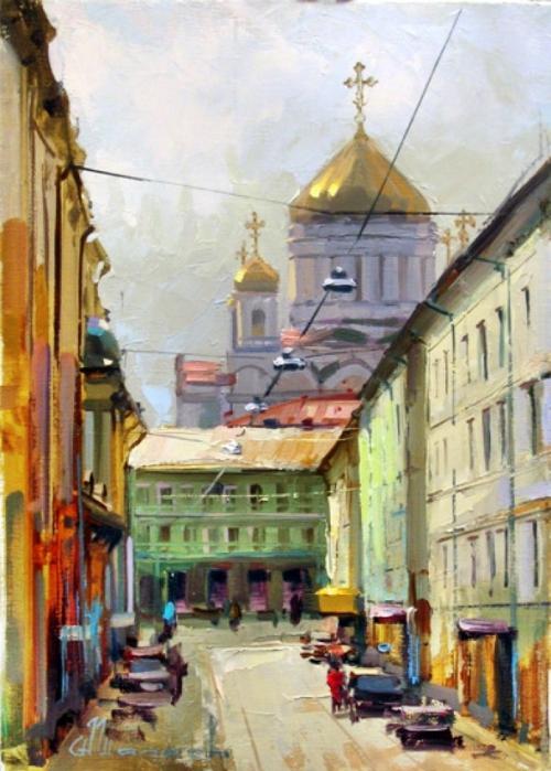 """Городской пейзаж """"Москва - век нынешний и век минувший"""""""