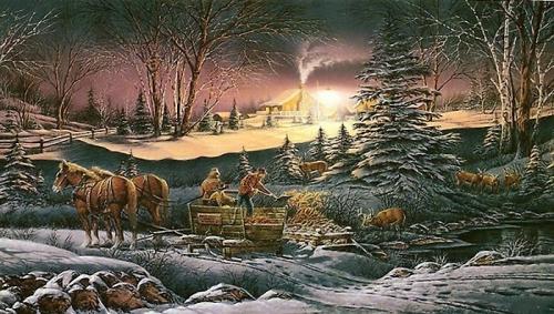 Американская деревня - художник Terry Redlin