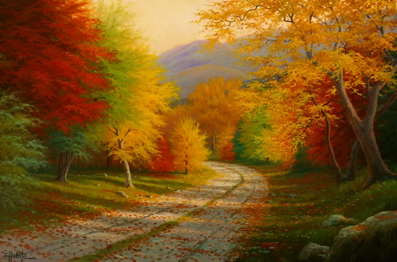 картинки картины осень яркая