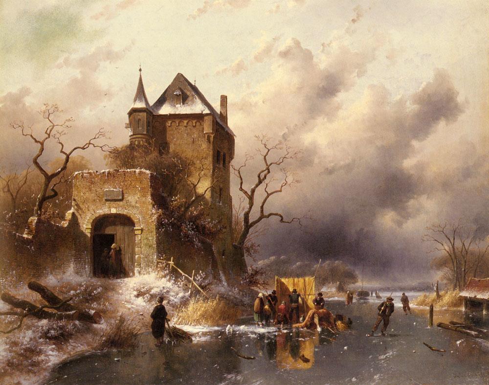 Ликерт 19 век зимний пейзаж 11 работ