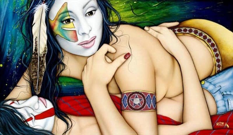 Дикая оргия с аналом в племени индейцев