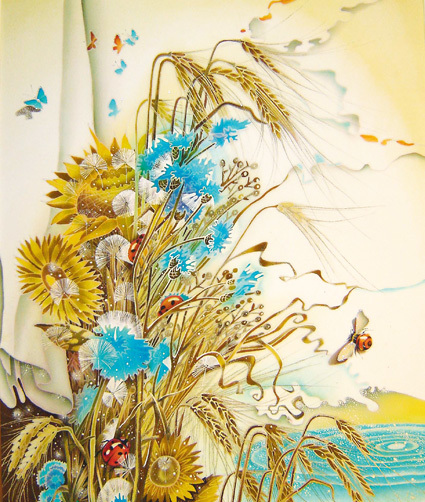 Широкова Елена Александровна - живопись по шёлку (38 картинок)