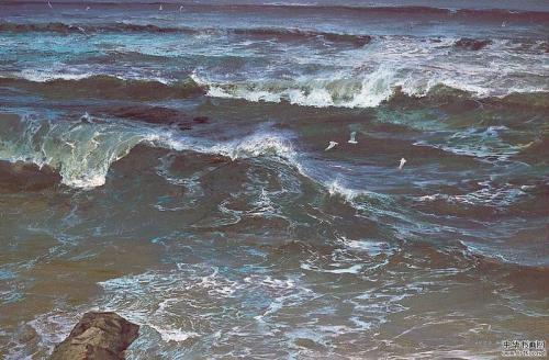 Морская живопись Gao Quan (12 катинок)