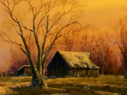 Painting Charles White and Mark Geller. Landscapes of America (19 картинок)