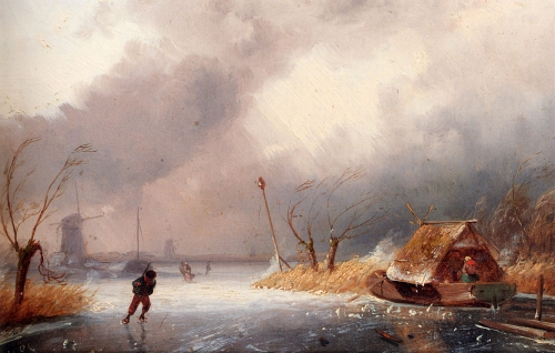 Чарльз Ликерт (19 век). Зимний пейзаж (11 работ)