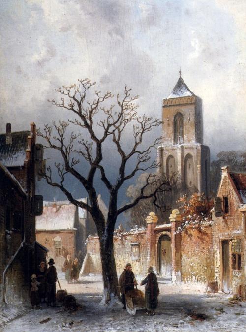 Чарльз Ликерт (19 век). Зимний пейзаж (11 картинок)