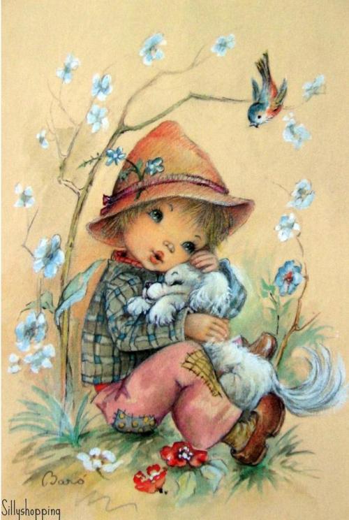 Красивые старинные открытки с детьми 86