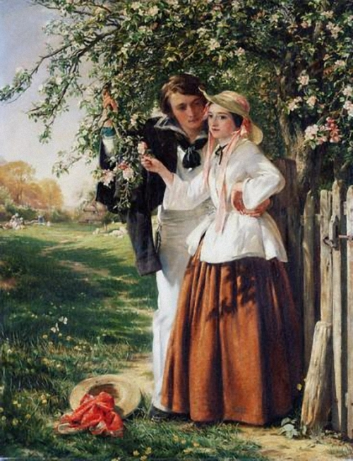 Английский художник John Callcott Horsley (1817-1903) (60 работ)