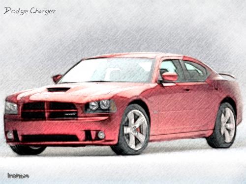 Рисованные автомобили (8 картинок)