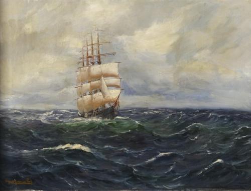 Художник-маринист Alfred Serenius Jensen (1859-1935) (26 работ)