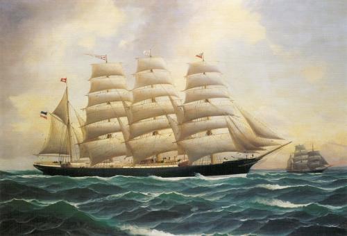 Художник-маринист Alfred Serenius Jensen (1859-1935) (26 картинок)