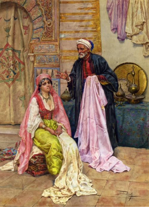 Итальянский художник Giulio Rosati (1858-1917) (64 картинок)