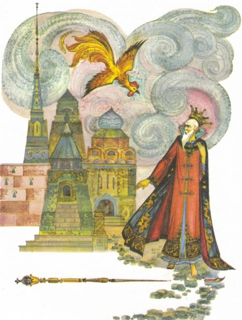 Художник Виктор Лагуна - иллюстрации к сказкам Пушкина (44 работ)