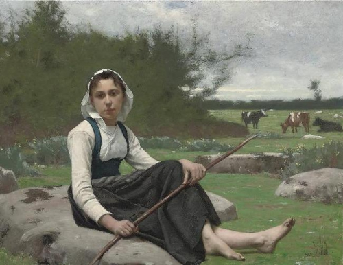 Французский художник Francois Alfred Delobbe (1835-1920) (31 работ)