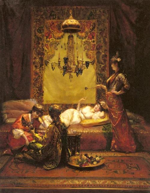 Французский художник Edouard Frederic Wilhelm Richter (1844-1913) (36 картинок)