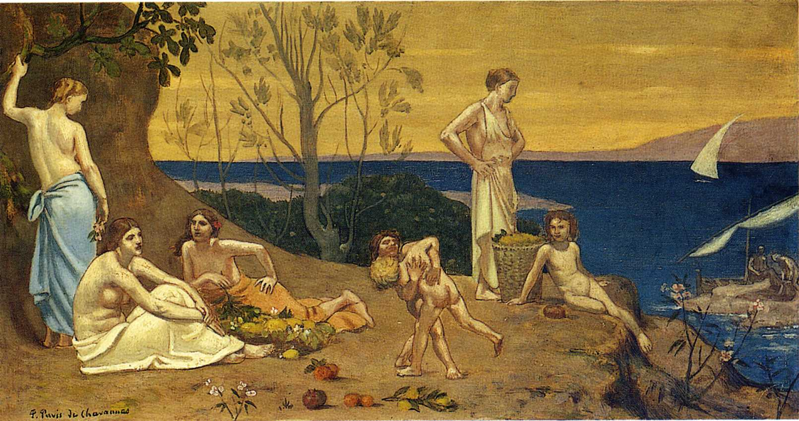 themes in pierre puvis de chavannes painting the poor fisherman