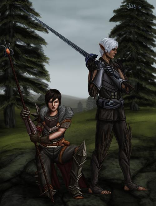 Dragon Age 2 - 88 авторских рисунков (88 работ)