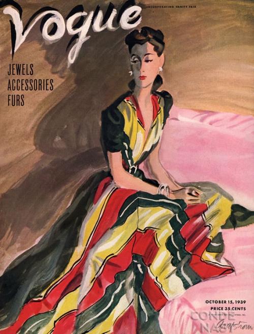 Обложки женского модного журнала Vogue с 1930 по 1950 гг. (85 картинок)