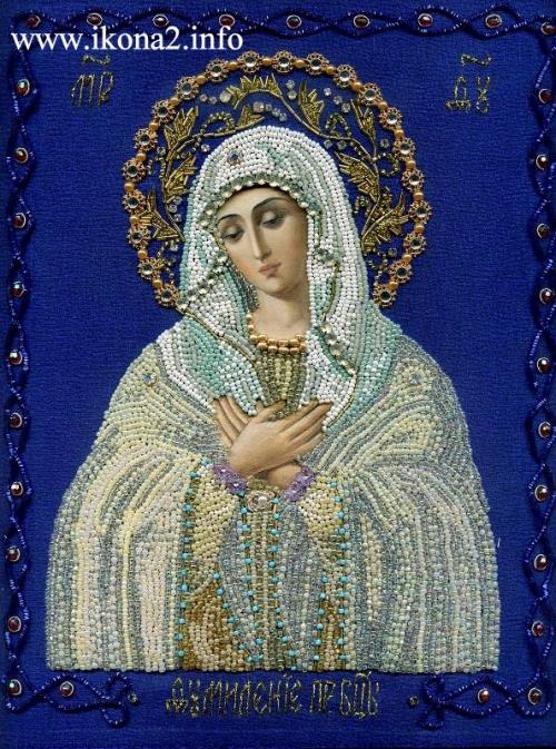 Вышивка бисером калужская божья матерь 25