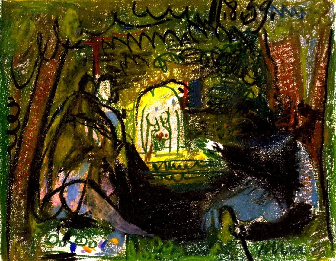 Пабло пикассо портреты жаклин рок 1955