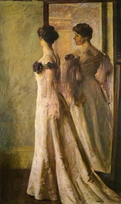 Женщина перед зеркалом (52 работ)