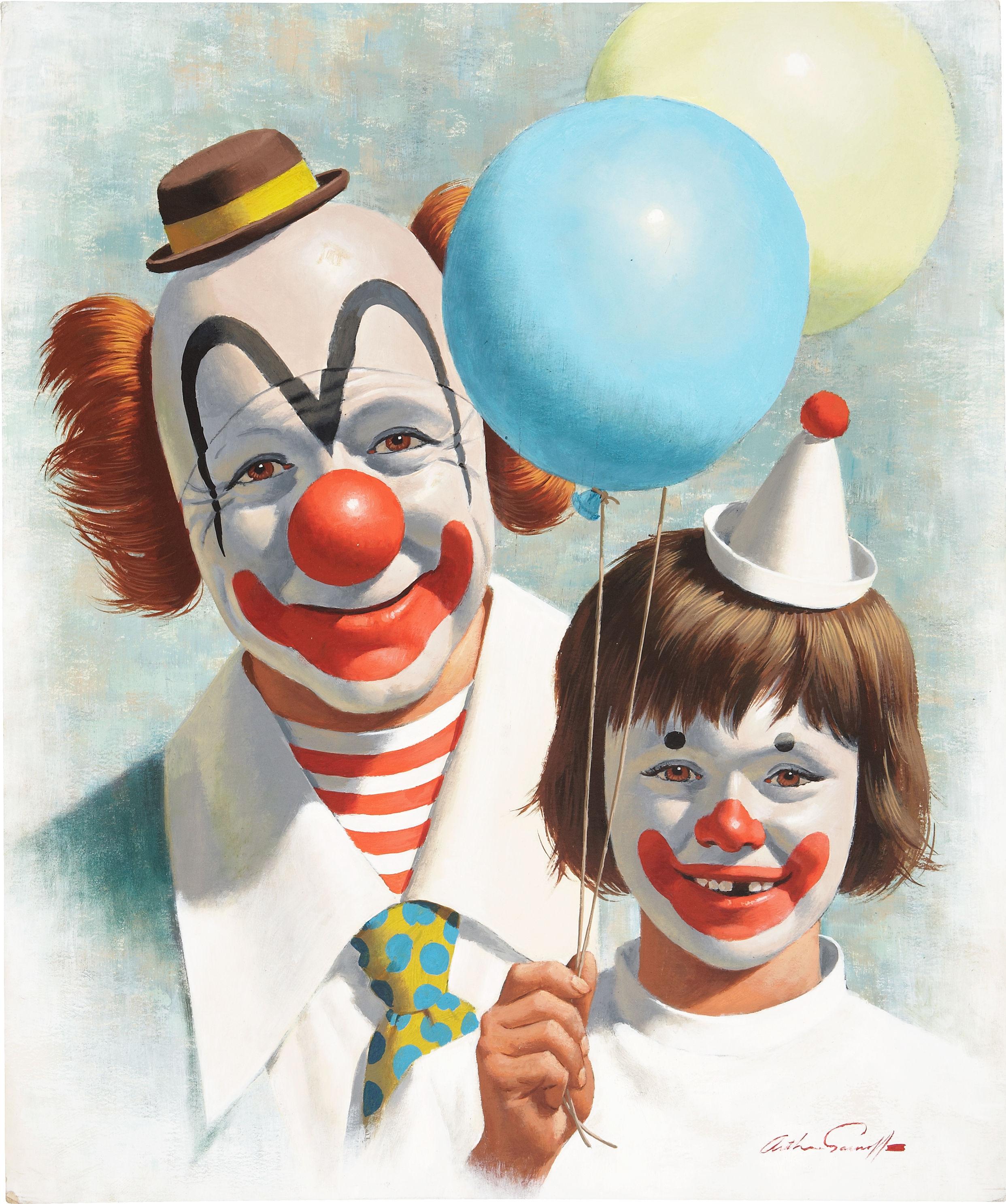 схема за грим на клоун
