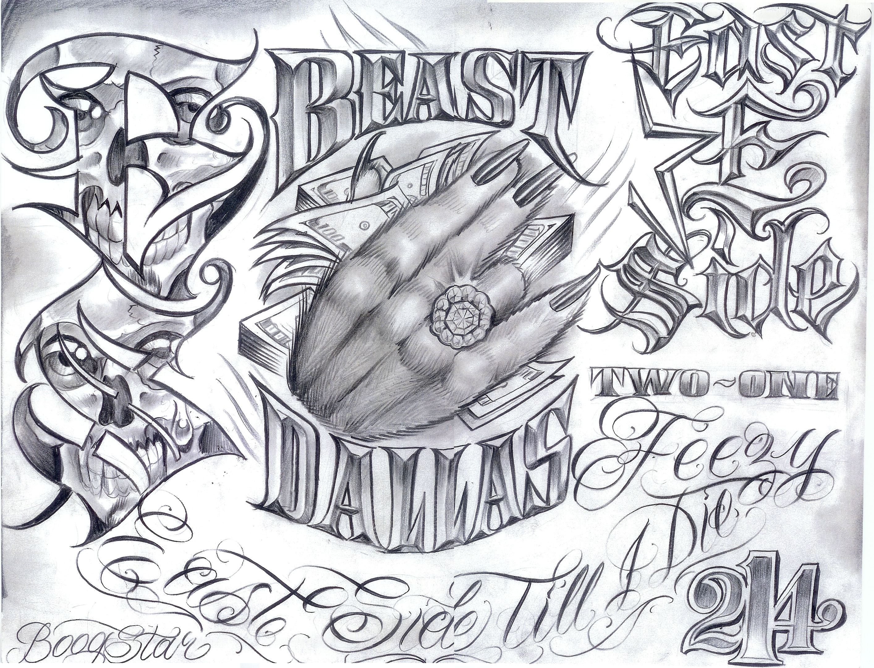 Tattoo Flash by Boog