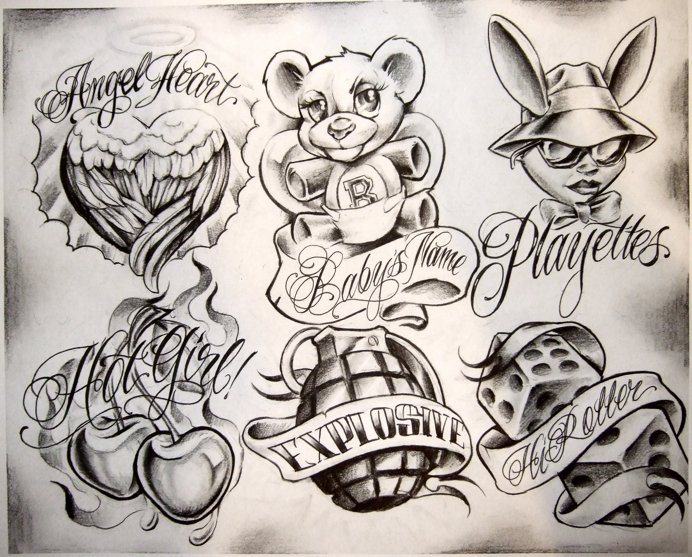 Tattoo Flash by Boog. Татуировки, зарисовки (191