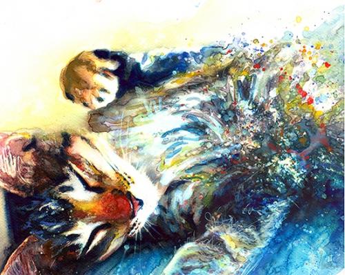 Кошки в акварели от Alex Carter (33 картинок)