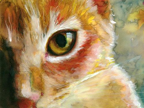 Кошки в акварели от Alex Carter (33 работ)