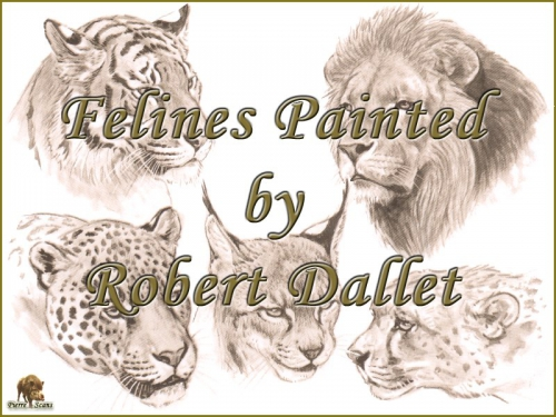 Роберт Даллет. Семейство Кошачьи   Painted Felines by Robert Dallet (152 работ)