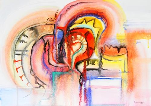 Лена Роговая - Рисунки. Абстракционизм (46 работ)