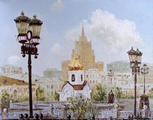 Москва и москвичи Михаила Радчинского (42 фото)