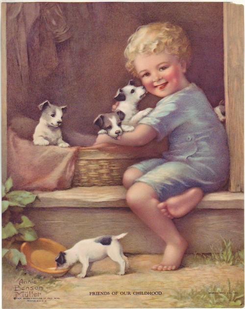 винтажные картинки дети
