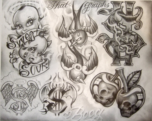 Tattoo Flash by Boog. Татуировки, зарисовки (191 фото)