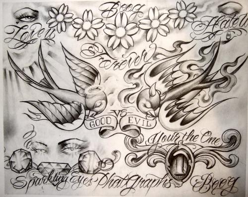 Tattoo Flash by Boog. Татуировки, зарисовки (191 фото)