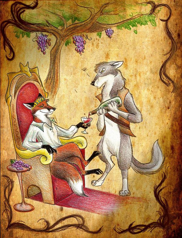 Смешная лиса и волк картинки
