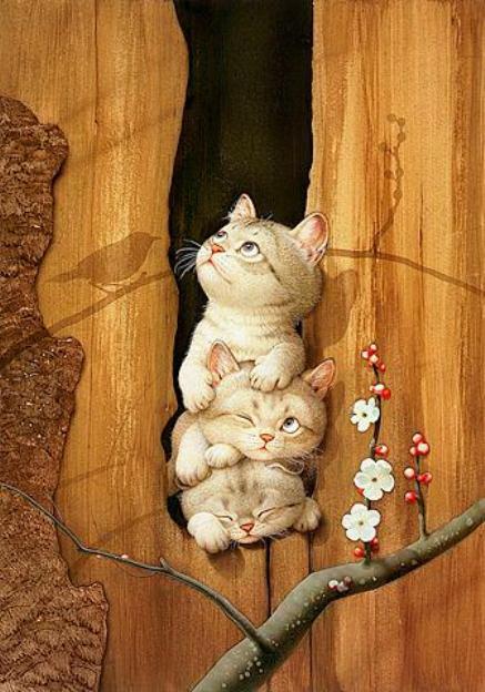 Зверушки от японского художника Макото Мурамацу (96 работ)