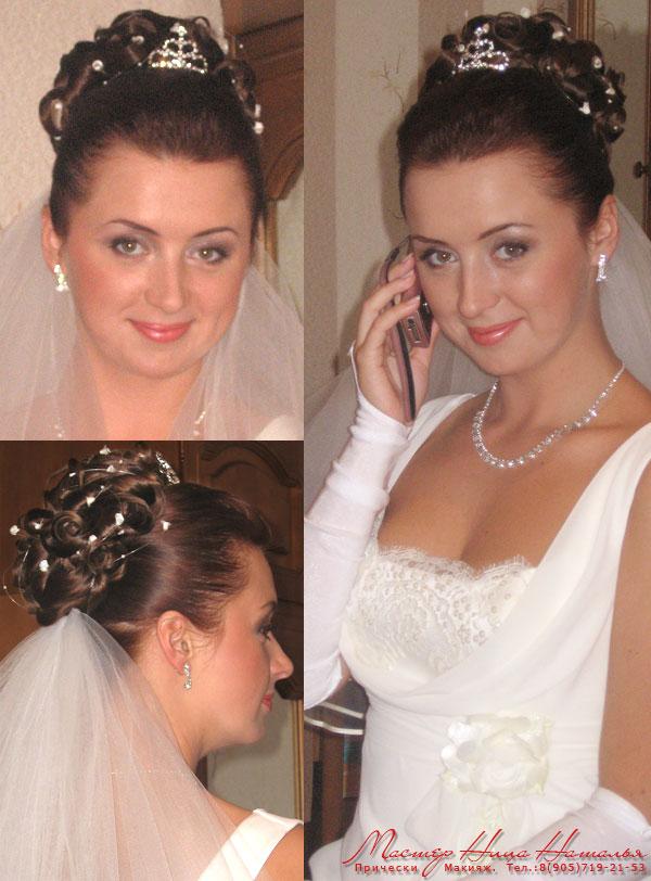 эксклюзивные свадебные прически для невест