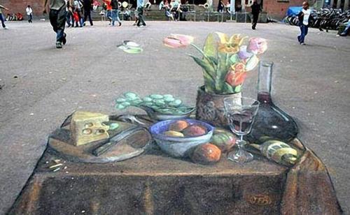 3D-рисунки на асфальте 2010 (21 работ)