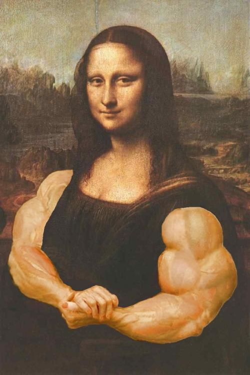 Самая смешная Мона Лиза (107 фото)