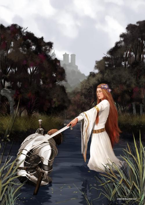Lady Of The Lake, Dede Putra. . 857x1212. . Просмотров: 302. . Обновлено: не задана www.ArtScroll.ru - Свитки искусства. . Галер